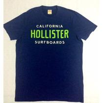 Camiseta Hollister California Surf Boards Tam M 100%original