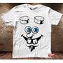 Camiseta Masculina Bob Esponja Hellboy Sátira Desenho Cinema
