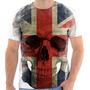 Camiseta Camisa Personalizada Caveira Inglaterra Skull 151