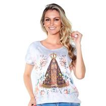 Blusa Nossa Senhora Aparecida-bordada - Ágape