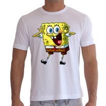Camiseta Bob Esponja - Camisa Desenho, Boneco, Animes