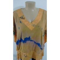 Blusa Kaftan Tye Dye Tamanho Grande Blusa Plus Size