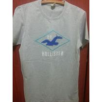 Camiseta Hollister Hco Abercrombie Original Cinza