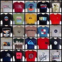 Kit 10 Camisetas Original Quiksilver Hurley Billabong Oakley