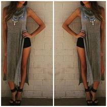 Blusa Vestido Super Fenda Lateral Look Blogueira Instagram