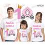 Lembrança De Aniversario Princesa Coroa Camiseta Kit Com 3