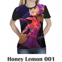 Camiseta Blusa Básica Big Hero Honey Feminina Disney 001