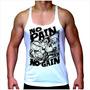 Regata Camiseta Super Cavada Musculação - No Pain No Gain