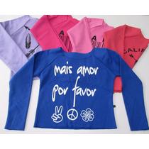 Moletom Feminino/blusinha/blusa Feminina/crooped/frio/casaco