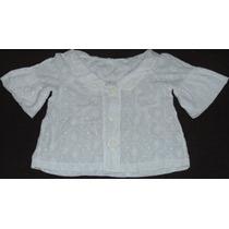 Blusa Cropped / Crop Branca Em Bordado Ingles / Laise
