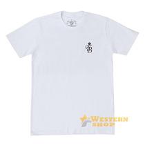 Camiseta Masculina Team Roping Branca 100% Algodão - Top Bul