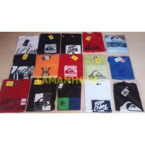 Kit 10 Camisetas Original Quilsilver Hurley Bilabong Ripcurl