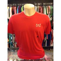 Camiseta Abercrombie Vermelho Tam G #962 Camisa Polo Origina