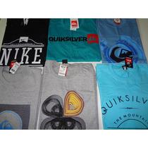 Kit Com 10 Camisetas Atacado Quik Silver Rip Curl Element