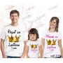 Lembrança De Aniversario Reino Encantado Camiseta Kit Com 3