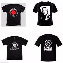 Camisa Banda Rock - Camiseta Linkin Park,rise,red Hot,axl