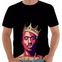 Camiseta Tupac Shakur 2pac Gangsta Modelo 3