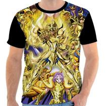 Camiseta - Camisa Cavaleiros De Ouro Cavaleiros Do Zodíaco
