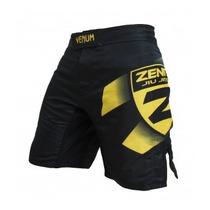 Bermuda Venum Zenith Team - Black/yellow-ufc-mma- Lançamento