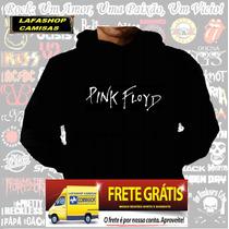 Blusa Moletom Pink Floyd Capuz Bolso Banda Rock Camisa Frio