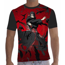 Camisa Camiseta Anime Itachi Uchiha Naruto Kakashi 017