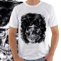 Camiseta Masculina Jim Morrison Caveira