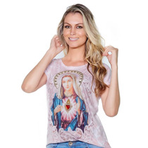 Blusa Imaculado Coração De Maria-bordada - Ágape