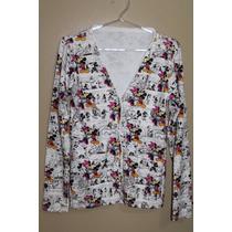 Casaco Casaquinho De Tricot - Lã - Malha - Mickey Minnie Lov