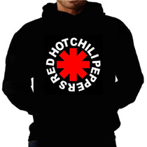 Blusa Moletom Red Hot Chili Redhot Capuz Bolso Banda Moleton