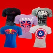 Camiseta Masculina Kit Em Atacado 10 Peças Hollister