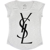Blusa Tshirt Feminina Em Tecido Flamê - Ysl