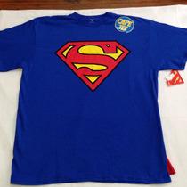 Camiseta Masculina Super Homem Adulto - Tam. L (g)