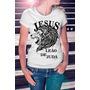 Camiseta Estampa Feminina Jesus Leões De Judá Evangélica