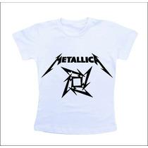 Camiseta Baby Look Feminina - Metallica
