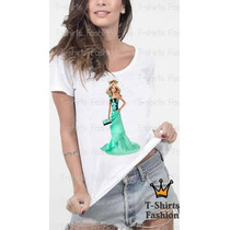 Camiseta Feminina Barbie Com Vestido Fashion Personalizada
