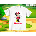 Lembrança De Aniversário Minnie Camiseta Infantil