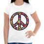 Camisa, Camiseta Feminina E Masculina Simbolo Paz E Amor 02