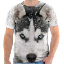 Camiseta De Husky Siberiano,cachorro,animal,estampada 3