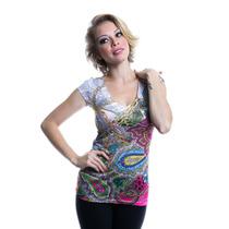 Roupas Femininas Camiseta Estampada Importada Rf1511
