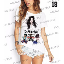 T-shirt Camiseta Blusa Fashion Demilovato Cantora Pop
