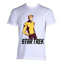 Camiseta Star Trek Jornada Nas Estrelas Kirk B P A Gg