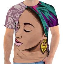 Camiseta Afro Masculina Personalizada Sublimação