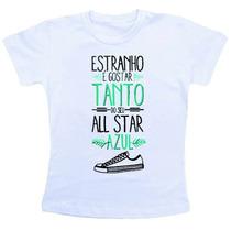 Camiseta Baby Look Feminina - Nando Reis - All Star Azul