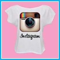 Blusa Feminina Infantil Instagram, Rede Social, Fashion