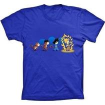 Camisetas Dragon Ball Goku Evolução Varios Modelos Camisas