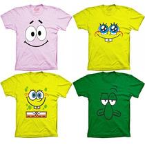 Camisetas Desenho Animado - Patolino Pernalonga Bob Esponja