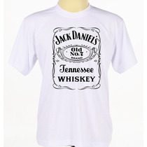 Camisa Estampada Jack Daniels Camiseta Bebidas Manga Curta