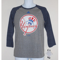 Camiseta Adidas New York Yankees Adolescente G Nova Orginal