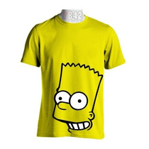 Camisa The Simpsons Bart Camiseta Anime Cartoon Seriado