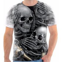 Camiseta Estilo Og Abel Caveiras Sweg Hip Hop Moda 6